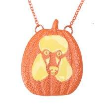 Ожерелье с подвеской в виде тыквы и пуделя для влюбленных собак