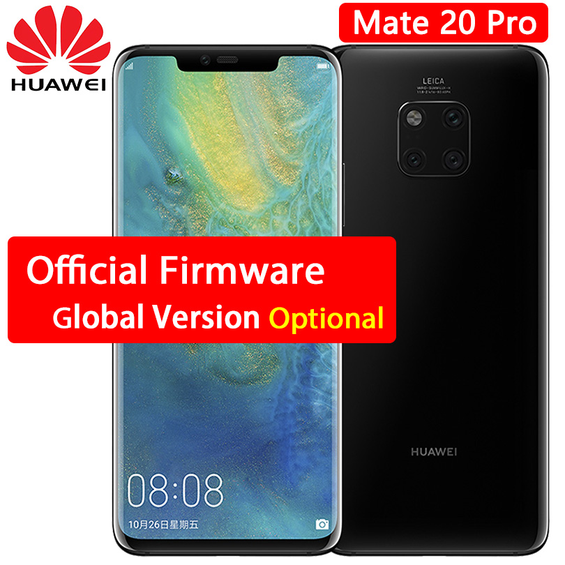 HUAWEI Mate 20 Pro cellphone 6 39 inch 2k OLED Screen waterproof IP68 40 MP Rear