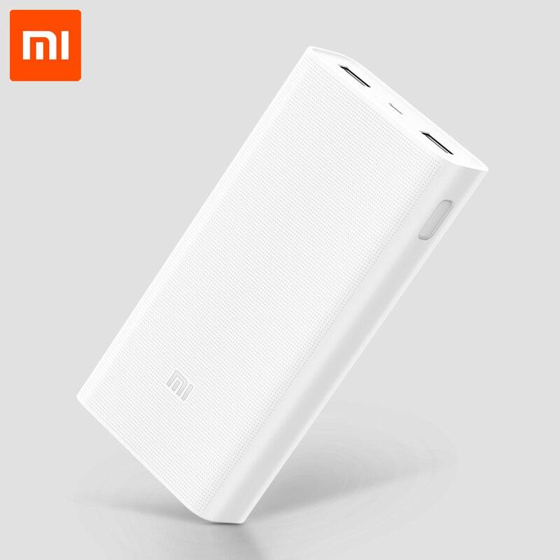 Цена за 20000 мАч Mi Power Bank 2 Поддержка двусторонней Быстрая Зарядка QC3.0 для Xiaomi 5 Huawei Mate 9 FCP HTC Lenovo Mobile телефоны