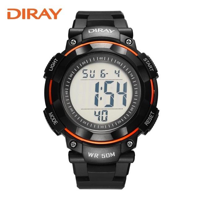 2016 Nova Marca Diray Relógio Militar Homens Sports Relógios Moda Relógio digital-relógio À Prova D' Água LED Relógio Digital Para Crianças