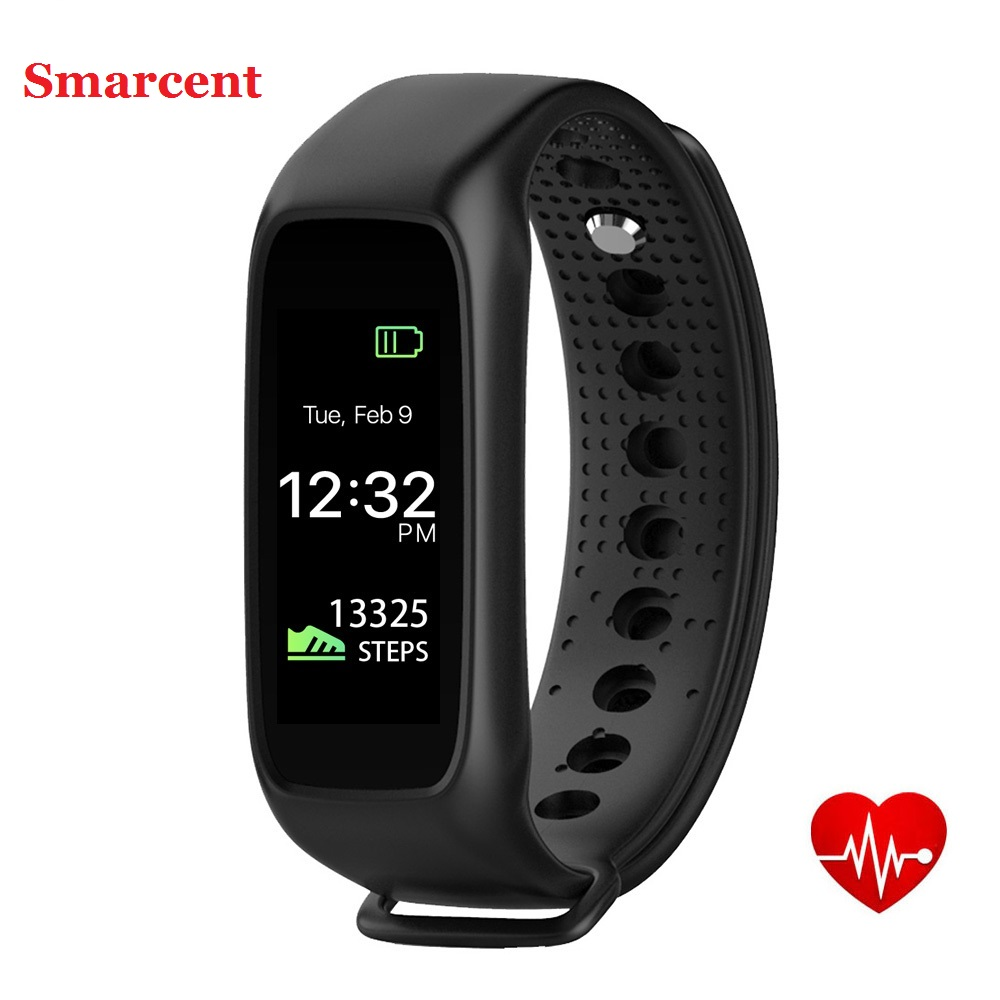 Smarcent L30 Bluetooth Smart Band Dynamic Heart Rate Monitor Full color TFT LCD Screen Smartband for