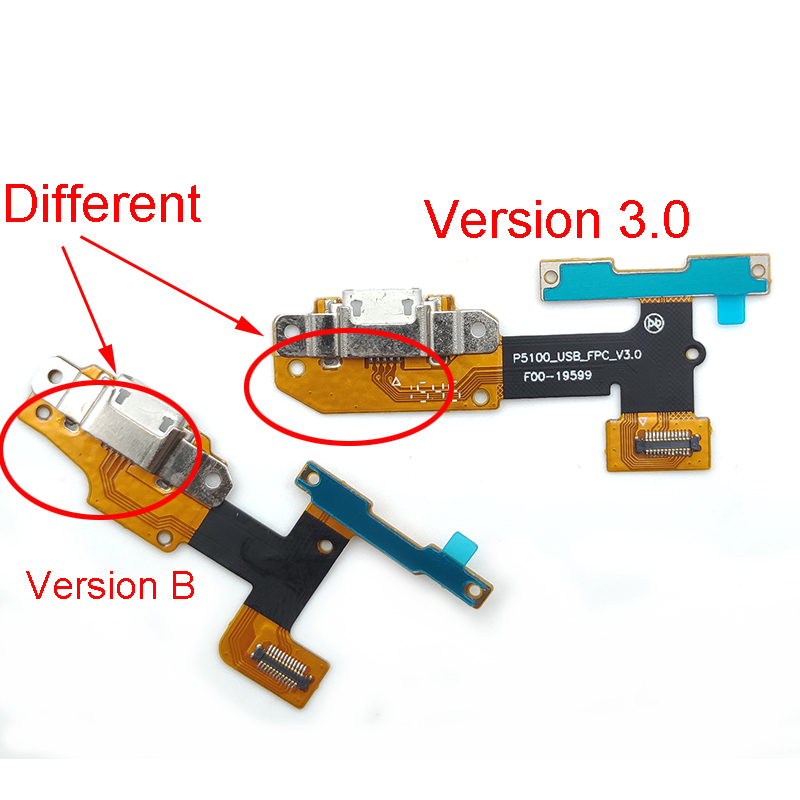 Dock Connector Charger For Lenovo YOGA Tab 3 YT3-X50L Yt3-x50f Yt3-x50 Yt3-x50m P5100_usb_fpc_v3.0 USB Port Charging Flex Cable