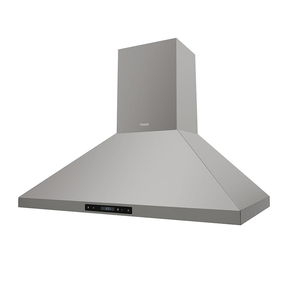 36inch 600CFM Wall Mount Chimney Range Hood In Stainless Steel With LED Lights Touch Control With Display Remote Control