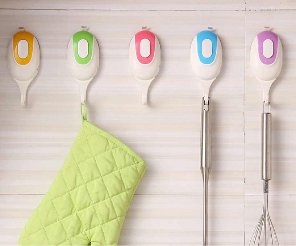 Kolorowe wieszak ścienny do łazienki Wieszak ścienny ręcznik uchwyt na ubrania 5 sztuk haki organizer kuchenny do przechowywania akcesoria łazienkowe