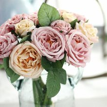 1Bunch Artificial Ranunculus Bouquet Flower DIY Silk for Party Home Wedding Decorative Craft Pink