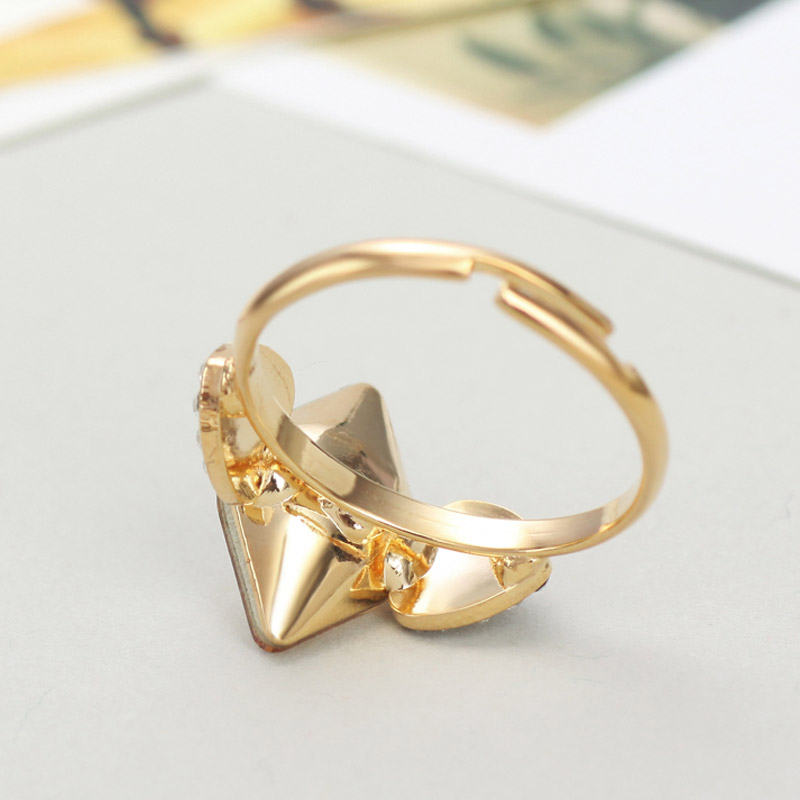 Neoglory Austria Crystal   Czech Rhinestone Adjustable Finger Ring  Champagne Geometric Style Women Light Yellow Gold Color-in Rings from  Jewelry ... cf645eb97ce8