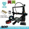 Auto level Новые HE3D Prusa EI3 DIY 3d принтера E3D одного экструдера, Экструзии алюминия 2 рулона нити 8 ГБ SD карты как подарок