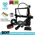 auto level Newest HE3D Prusa EI3 DIY 3d printer   E3D single extruder , Aluminium Extrusion 2 rolls filament 8GB SD card as gift