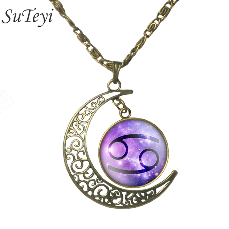 Aliexpress Com Buy 2 In 1 Constellations Pendant Amulet: Aliexpress.com : Buy SUTEYI Zodiac Twelve Constellations
