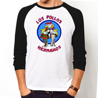 Men S Fashion Breaking Bad Shirt LOS POLLOS Hermanos T Shirt Chicken Brothers Long Sleeve Tee
