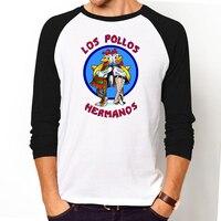 Men S Fashion Breaking Bad Shirt LOS POLLOS Hermanos T Shirt Chicken Brothers Long Sleeve Tee