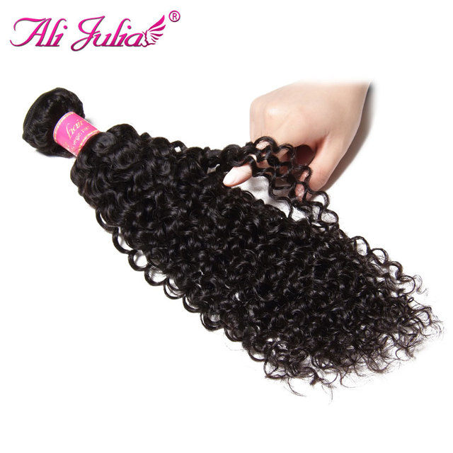 Ali Julia Hair Malaysian Curly Weave Human Hair Bundles Natural Color Free Shipping 8 26 Inches Remy Hair One Piece by Ali Julia