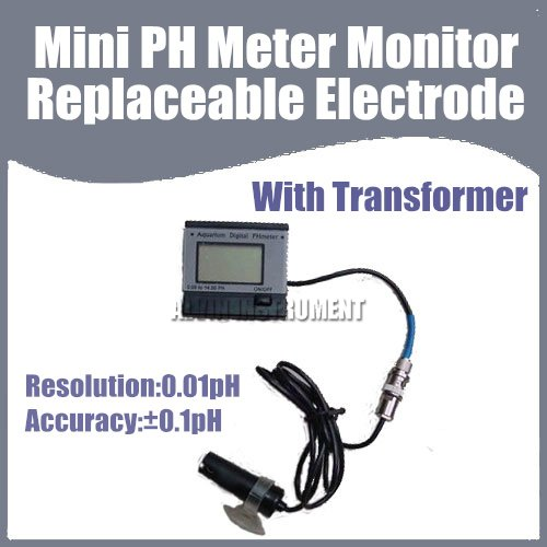 ФОТО Free Shipping Mini PH Meter Monitor (Aquarium) Replaceabe Electrode With transformer