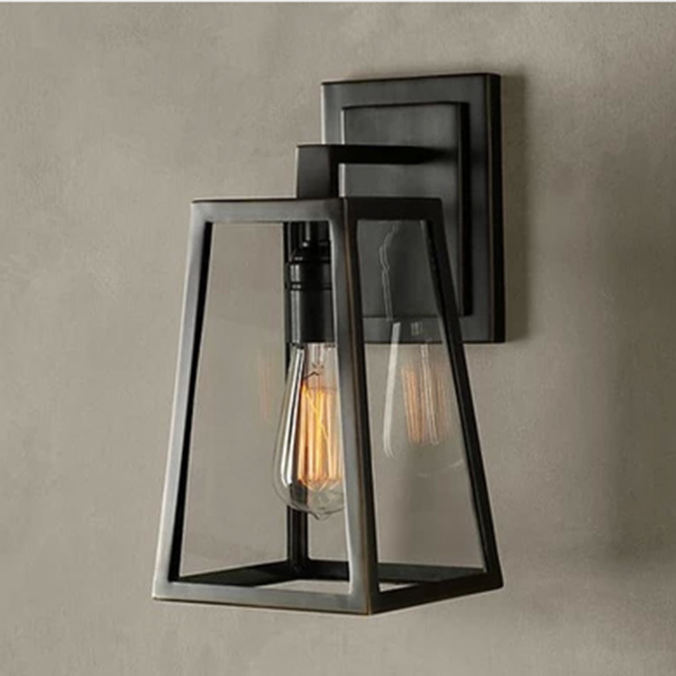Applique Loft Bar nordique classique noir ampoule fil lampe Cage bricolage applique industrielle garde ombre lampara