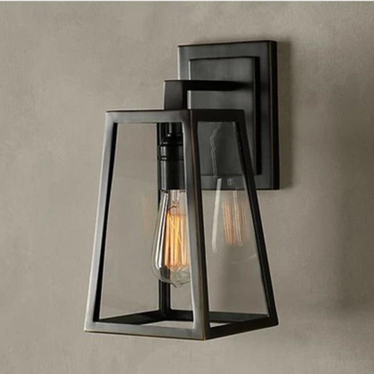 wall lamp Loft Bar Nordic Classic Black Bulb Wire Lamp Cage DIY wall lamp Industrial Guard Shade Lamparas
