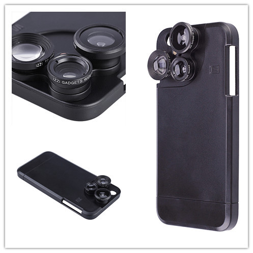 Photographer Photo Lover Touring Accessories Fish Eye Wide Angle Macro 4 In1 Camera Lens Phone Case