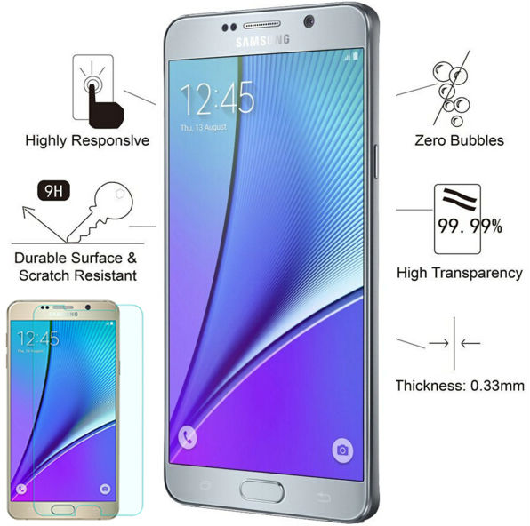 TOP SElling 0.26mm 9H 2.5D Round Edge Tempered Glass Film for Samsung Galaxy Note 2 3 4 5 A3 A5 A7 2015 2016 with Clean Tools ...
