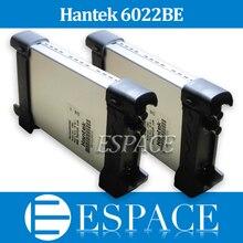 5 pièces/lot Hantek 6022BE Oscilloscope de stockage numérique USB basé sur PC 2 canaux 20mhz 48msa/s avec boîte dorigine DHL gratuit