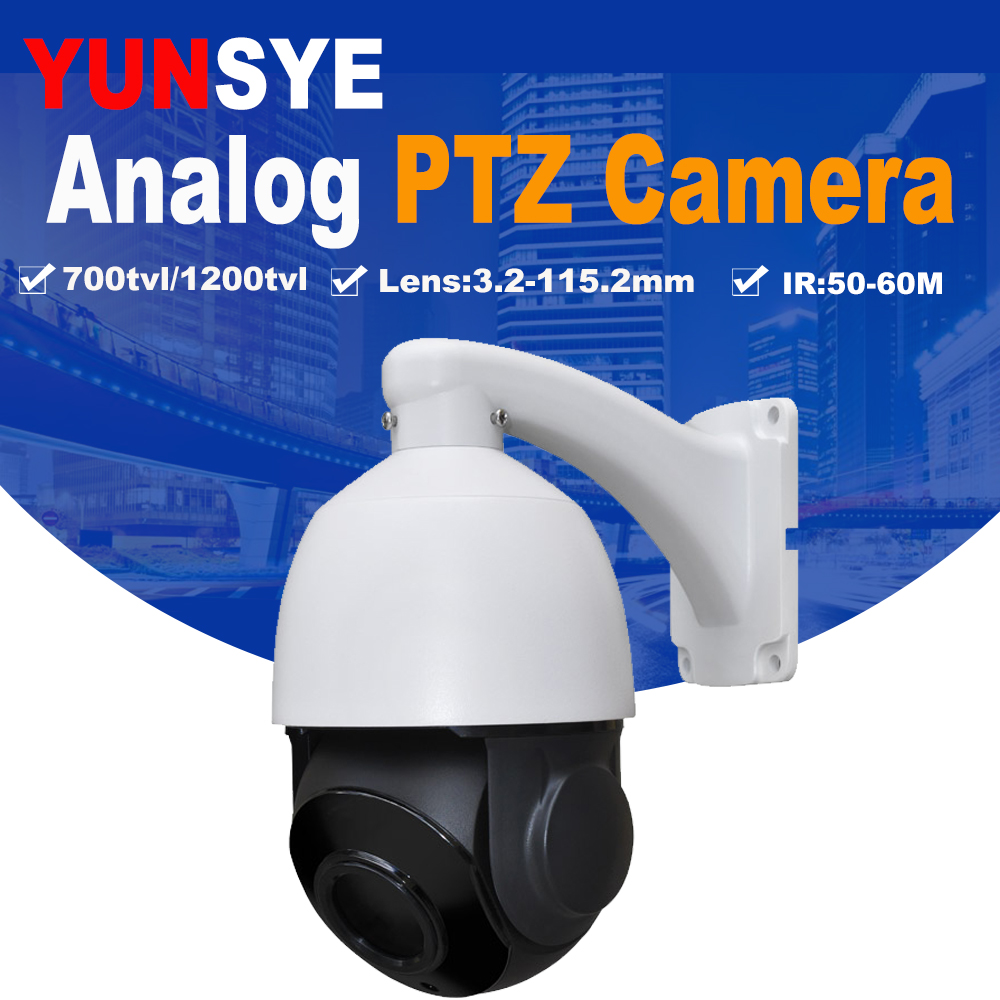 Free shipping 36X optical zoom Indoor outdoor mini speed dome camera,PTZ Camera CCD 700TVL BNC RS485 Cable Mini Analog PTZ auto tracking ptz camera 7 inch ir speed dome camera ccd 700tvl 36x optical zoom ir 150m osd menu outdoor ptz camera