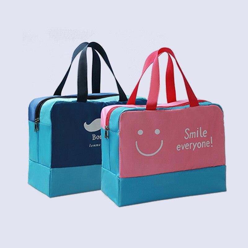 Paper Rock Scissor Fight Waterproof Leather Folded Messenger Nylon Bag Travel Tote Hopping Folding School Handbags