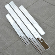 Car Door Sill Scuff Plate Trim Stainless Steel Welcome Pedal Cover Stickers Styling For Volkswagen VW PASSAT B5 B7 Accessories цена