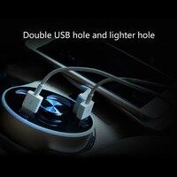 With LED Dispaly Bluetooth Earphone Pbear Multi Socket Auto Car Cigarette Lighter Splitter USB Power Adapter
