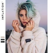 INFLATION Hoodies Men's 2019 Autumn Winter Sweatshirts Hip Hop Casual Cotton Pullover Skateboard Hoodie Winter Wool Hooded 8778W