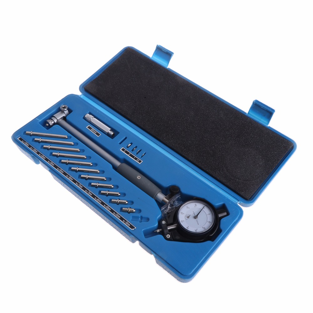Dial Bore Gauge 50-160mm Hole Indicator Measuring Engine Cylinder Gage Tool Kit high measuring tool 60 degree thread blades screw pitch gage gauge dual head measure tools