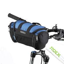 цена на ROSWHEEL 5L Bike Bicycle Cycling Bag Handlebar Front Tube Pannier Basket Shoulder Pack