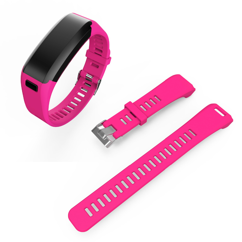 Fashion Sports Silicone Watchbands for garmin Strap Bracelet Replacement Wristband Smart Accessory for garmin VIVO Smart HR Band 9
