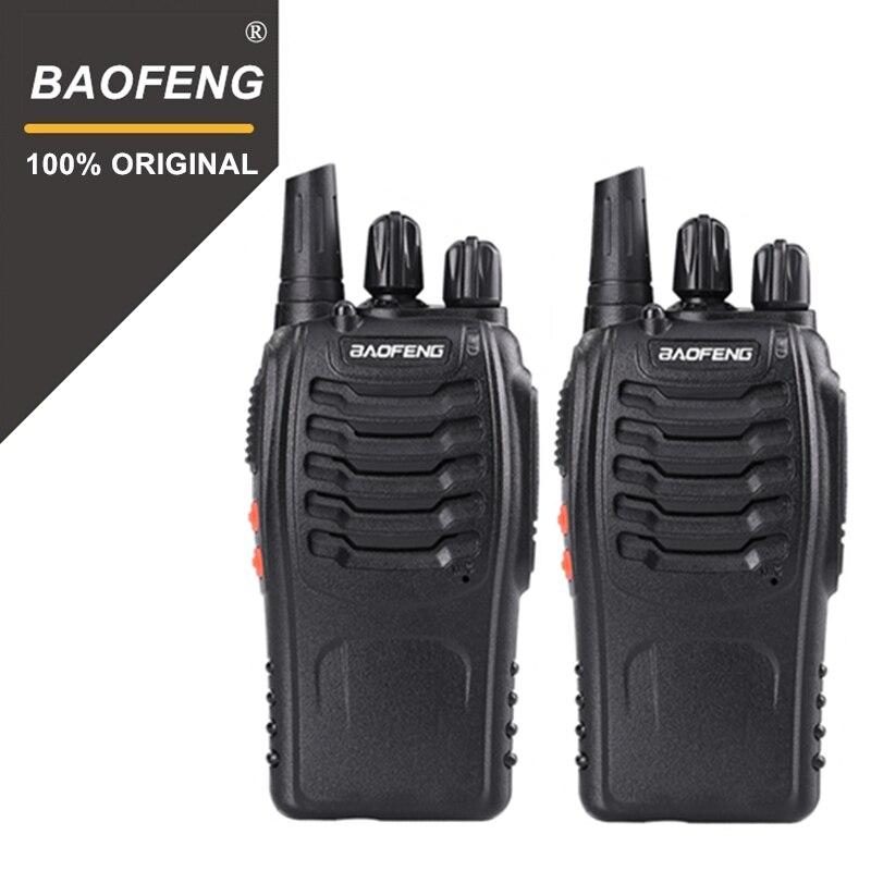 2 PCS 100% D'origine Baofeng 888 S Talkie-walkie Portable Radio Hôtel Communicateur De Poche Émetteur-Récepteur Cb Radio BF-888S Station