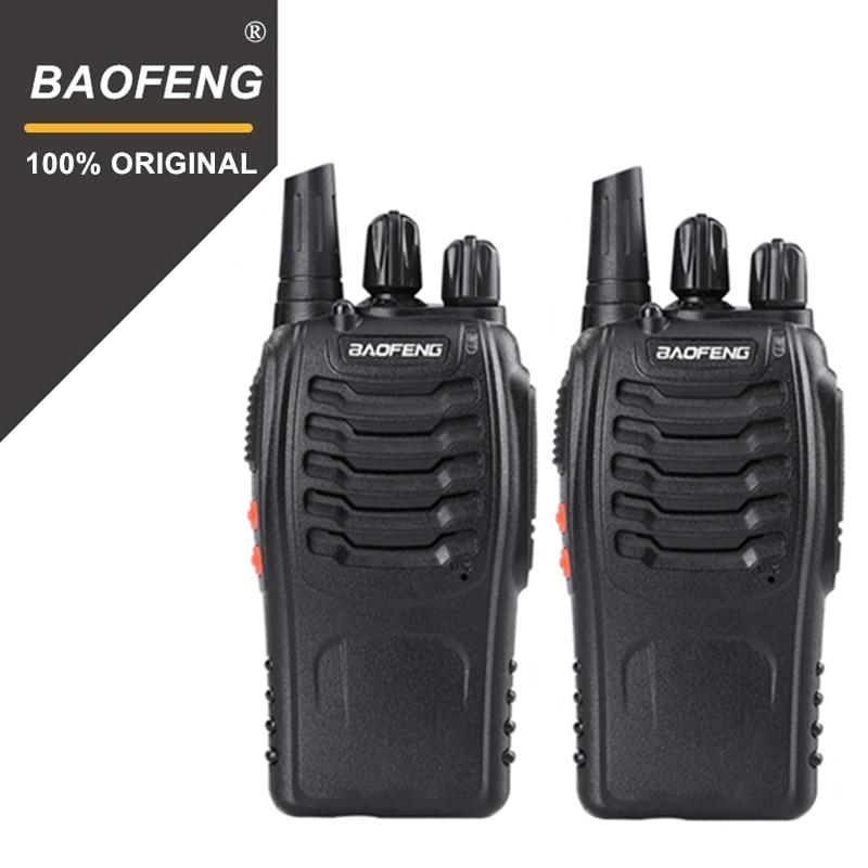 2PCS 100% Original Baofeng 888S Walkie Talkie Portable Radio Hotel Communicator Handheld Transceiver Cb Radio BF-888S Station