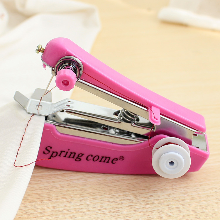 Marka Ev Manuel BAHAR GELIN Mini El Manuel Mini Taşınabilir Giyim Kumaş Dikiş Makinası Ücretsiz Nakliye