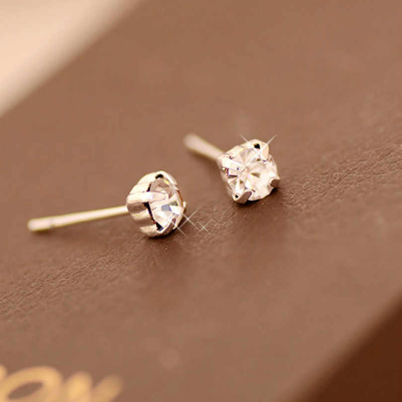 Korean Version Of The New Fashion Exquisite Alloy Shiny Crystal Earrings Female Earrings Geometric Earrings Wholesale Jewelry