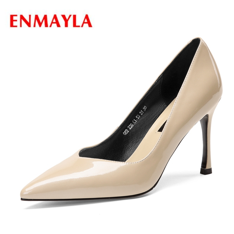 ENMAYLA  Genuine Leather  Pointed Toe  Casual  Slip-On  Thin Heels  Shoes Woman  Ladies Shoes  Size34-39 ZYL2122ENMAYLA  Genuine Leather  Pointed Toe  Casual  Slip-On  Thin Heels  Shoes Woman  Ladies Shoes  Size34-39 ZYL2122