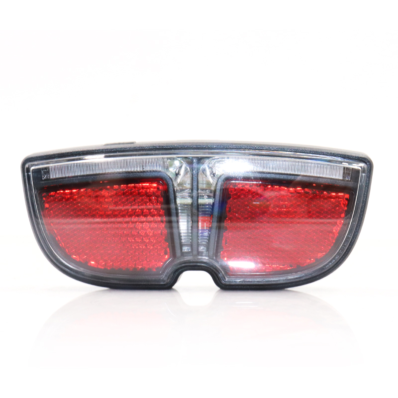 Glasses Desigh Rear LED Electric Bike Light Rack Lamp With Switch Use Battery Cycling Accessories Power Red Light For Ebike