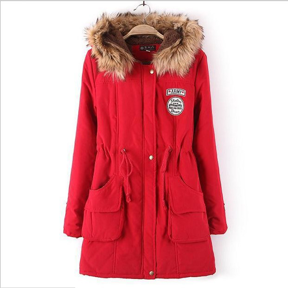 Female Cotton Parka Long Jacket Women's Warm Collar Large Size Long Sleeve Jackets Winter Coats 3XL Thick parkas 15 Colors New korean winter jacket women large size long coat female snow wear cotton parkas hooded thick warm coats and jackets 7 colors