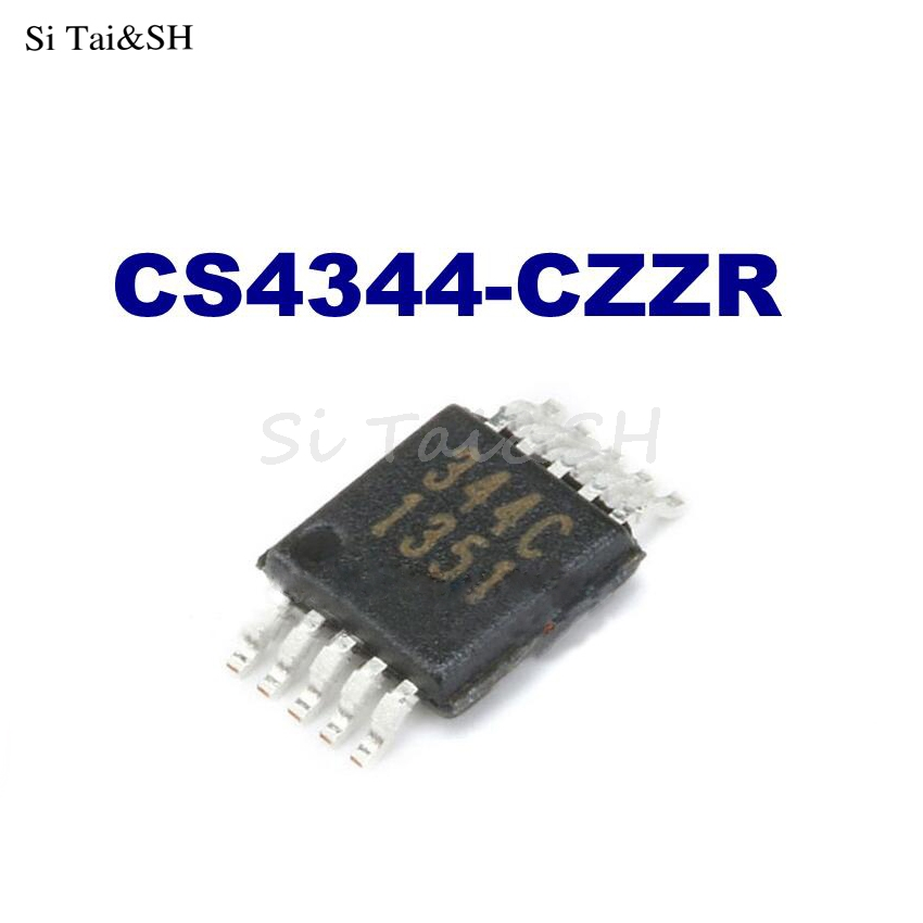 1pcs/lot CS4344 CS4344-CZZ 344C MSOP-10 DAC IC New Original