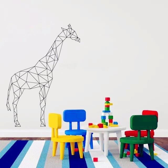 Geometric Giraffe Wall Sticker For Home Decor Wall Decals 3d Vinyl Art Home Decoration