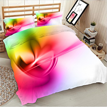 Fashion gold light 3D bedding Set for bed Duvet Cover set twin full queen king size bed set printed sheet bed