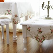 New Arrival Fashion Embroidery Tablecloth Table Runner Simple Dining Runners Beige Color Home Decor Assessaries