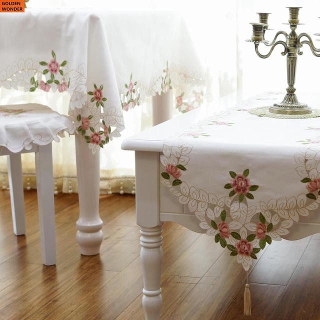 new arrival fashion embroidery tablecloth table runner simple dining