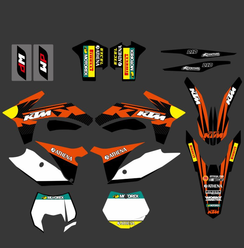 0317  NEW TEAM  GRAPHICS WITH MATCHING BACKGROUNDS FIT FOR  SX SXF 125/150/200/250/350 /450/500 2011-2012  0322 star new team graphics with matching backgrounds fit for ktm sx sxf 125 150 200 250 350 450 500 2011 2012