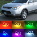 For Hyundai veracruz ix55 2007-2012 Excellent Angel Eyes kit Multi-Color Ultrabright 7 Colors RGB LED Angel Eyes Halo Ring