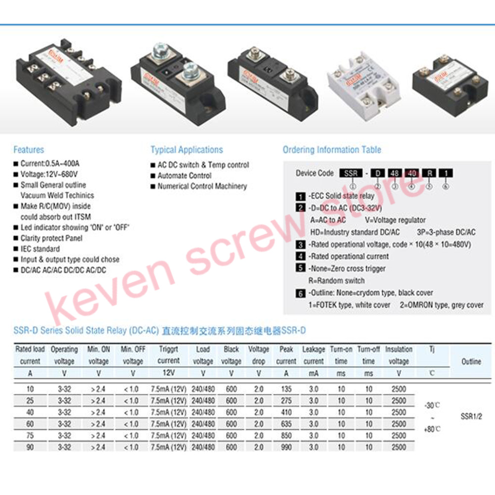 Three Phase Solid State Relay Block Diagram H360zf 3 Dc To Ac 60a 4 32vdc Industrial Grade Set Ssr Not Incluidng Tax In Relays From Home Improvement On