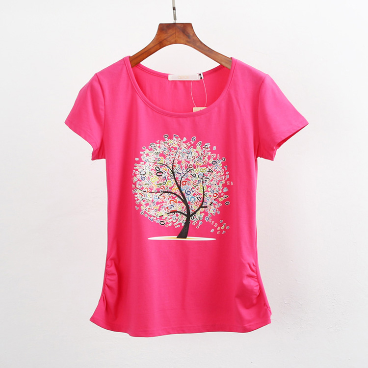 HTB1XIIuQpXXXXaUaXXXq6xXFXXX1 - Summer clothing short-sleeve T-shirt female casual shirts