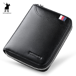 WILLIAMPOLO 2018 Leather Men Wallets Wallets Man Card Holder Male Purse Men With Placement POLO283