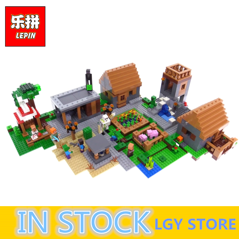 LEPIN Village Model 18008 Minecrafted My World Series Building Blocks Bricks Compatible With 21128 Toys for Children Gifts lepin 18010 my world 1106pcs compatible building block my village bricks diy enlighten brinquedos birthday gift toys kids 21128