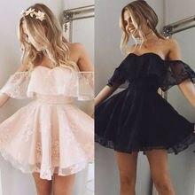 FREE SHIPPING Women Formal Lace Mini Dress Prom JKP317