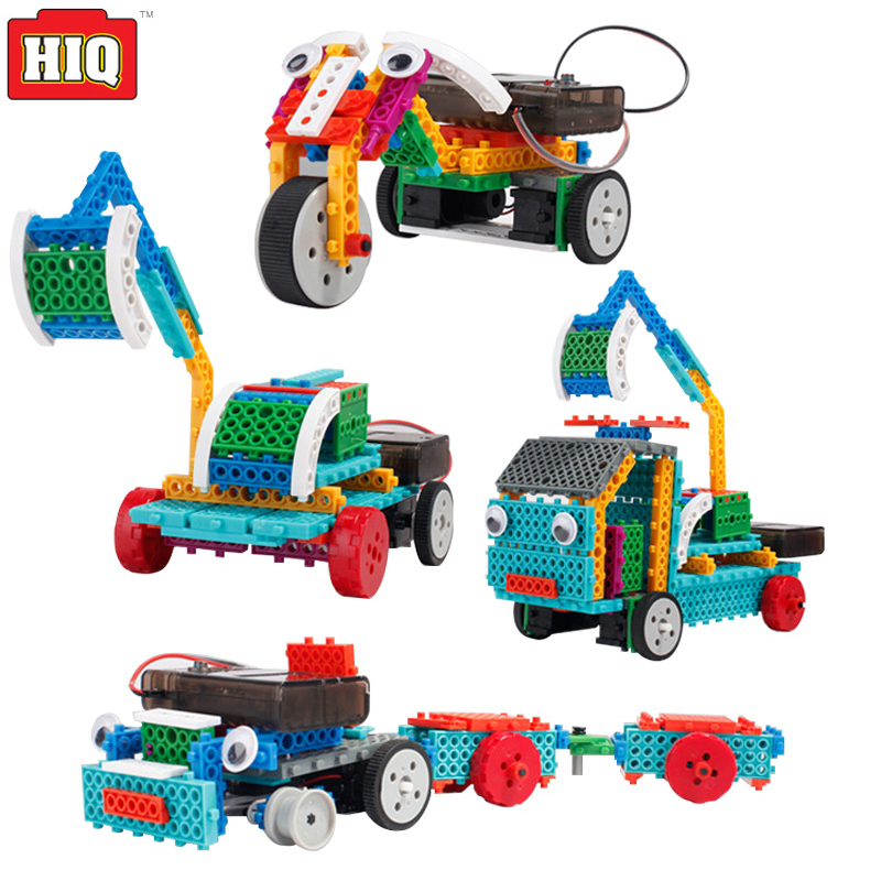 Engineering Vehicle Building Blocks Electric Remote Control Robot Toys 4in1 Educational Toys For Children tqm in engineering education